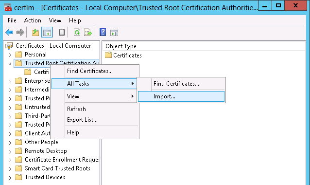 Appendix D: How to check that certs were deployed correctly